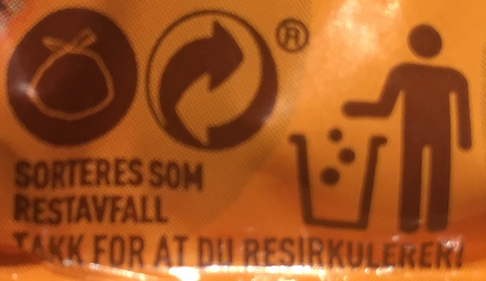 Sprø kjeks med sjokoladebiter - Recycling instructions and/or packaging information - nb