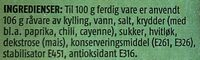 Prior Kyllingfilet Skivet - Ingrédients - en