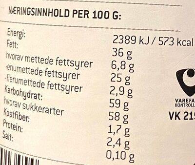 Nøttesjoko - Informations nutritionnelles - en