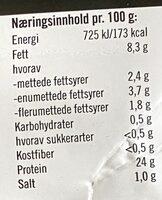 Solvinge Grillet Kylling Salatkjøtt Grillkrydder - Informations nutritionnelles - nb
