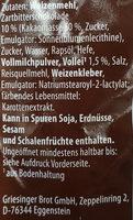 Schokobrötchen - Inhaltsstoffe