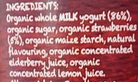 Organic Yogurt Strawberry - Ingredients