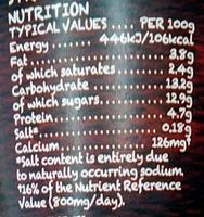 Organic Yogurt Strawberry - Nutrition facts