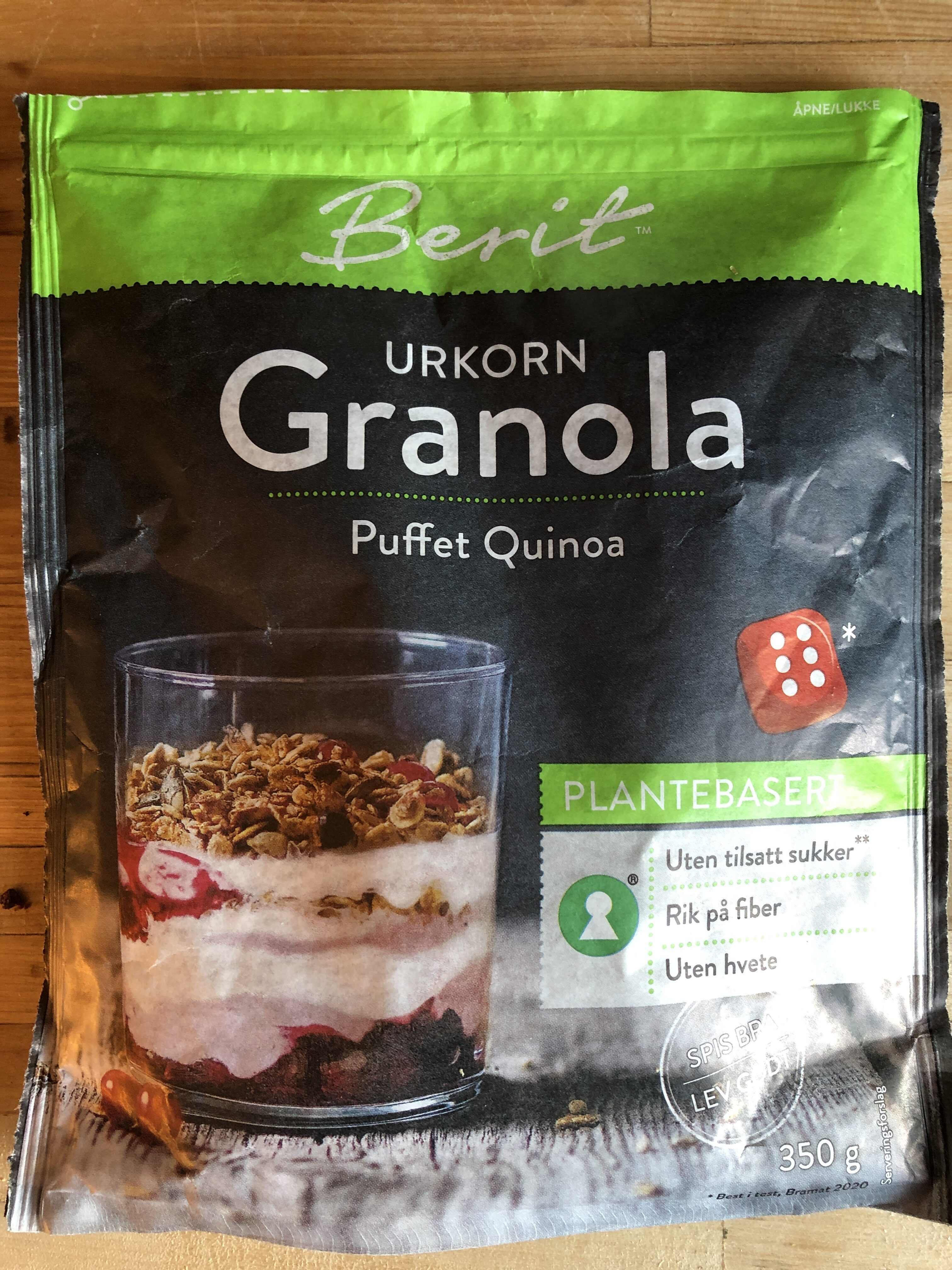 Urkorn granola med puffet quinoa - Produit - nb