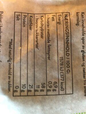 Urkorn granola med puffet quinoa - Informations nutritionnelles - nb