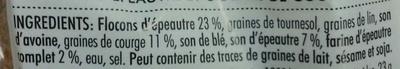 Véritable pain croquant norvégien - épeautre et graines de courge - Ingrédients - fr