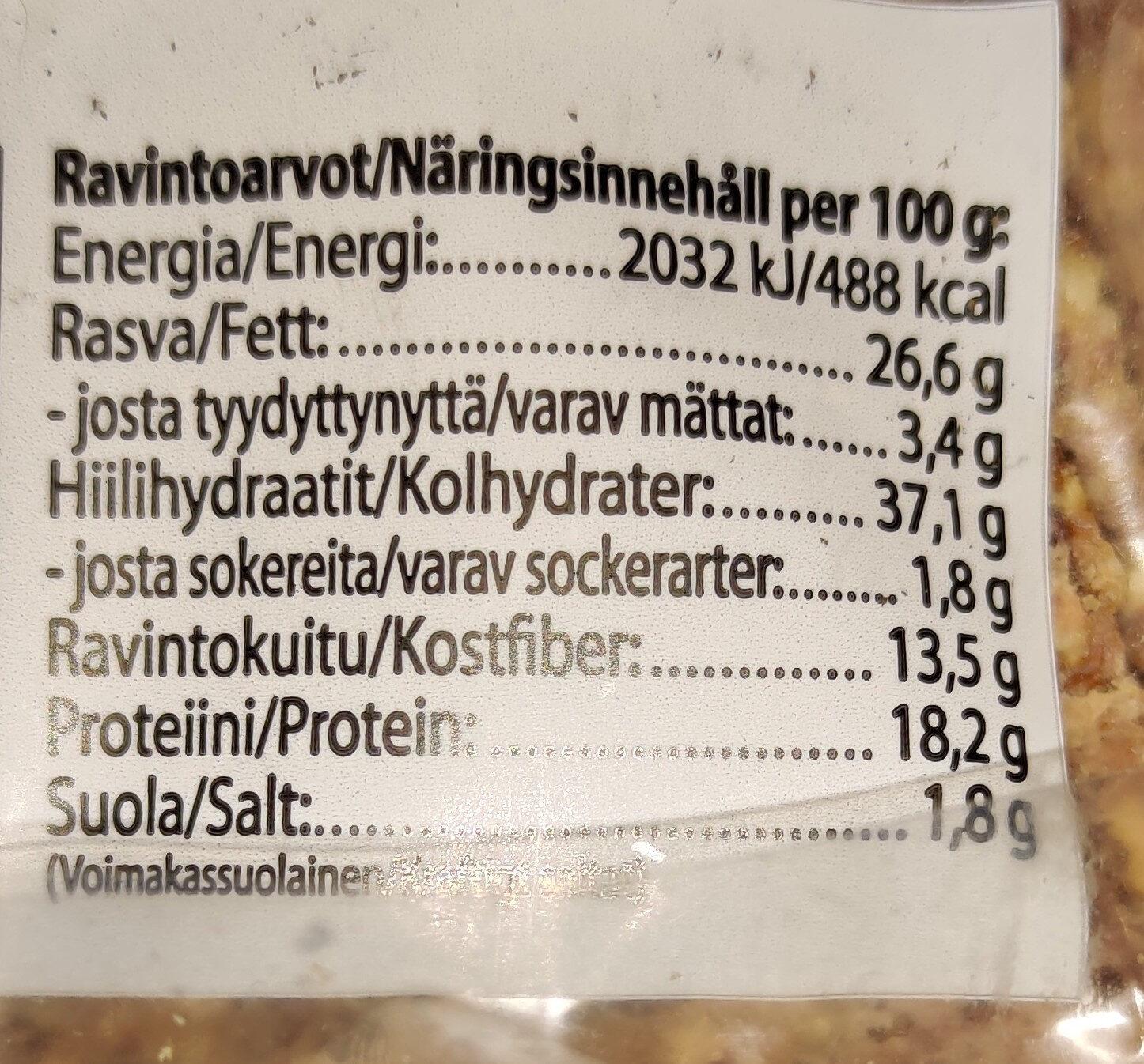 Gourmet-Näkkileipä - Yrtti & Merisuola - Ainesosat - fi