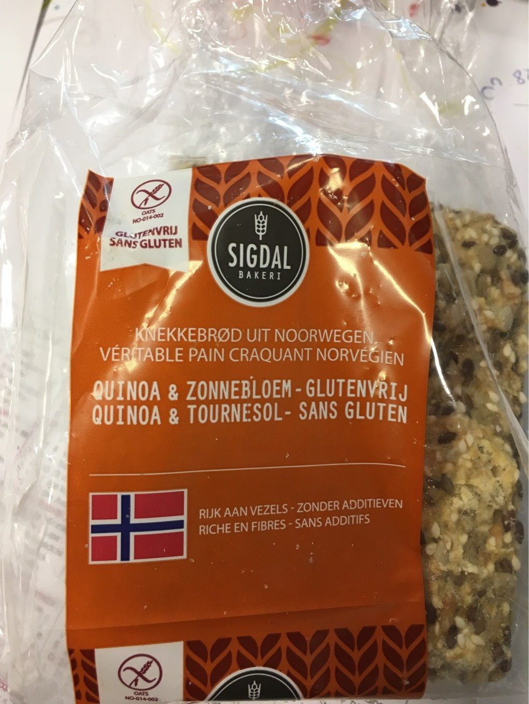 Pain Craquant Norvégien Quinoa Et Tournesol Sans Gluten Sigdal - Voedingswaarden