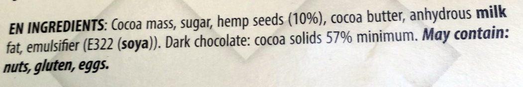 Chocolat Cannabis - Ingrediënten - fr