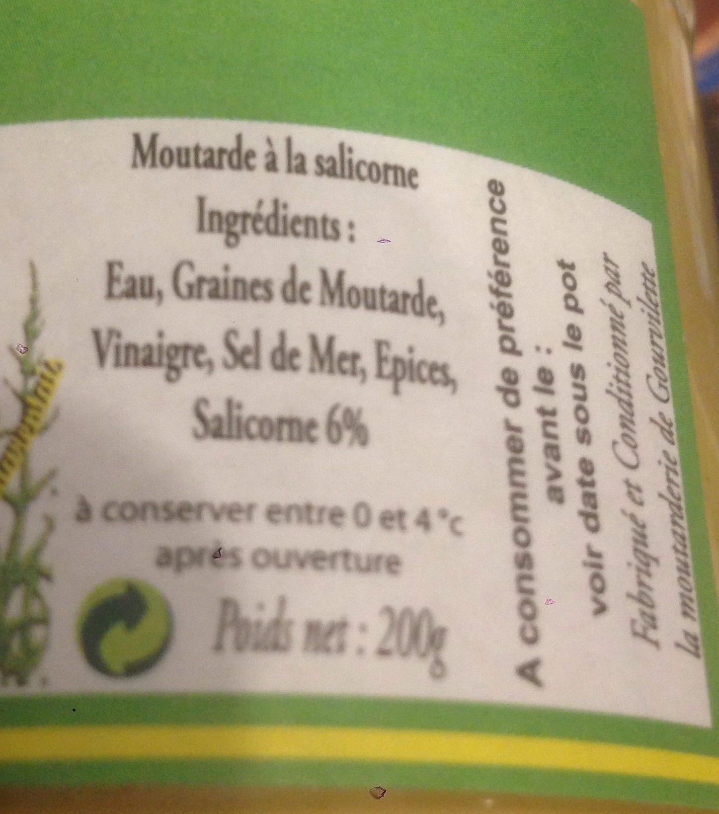 Moutarde a la salicorne - Ingrediënten