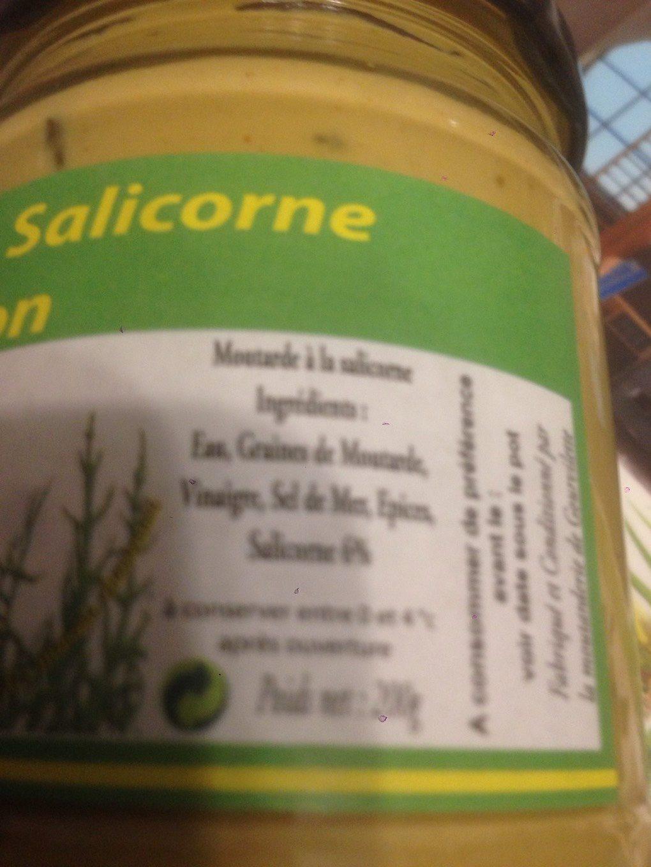Moutarde a la salicorne - Voedingswaarden