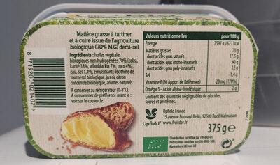 Fruit d'or bio demi-sel Tartine et Cuisson - Product - fr