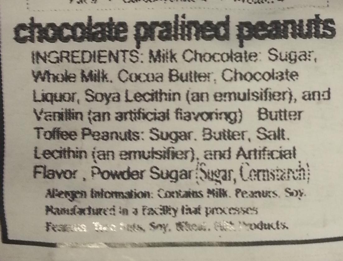 California Bear Poop - Ingredients
