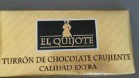 Turrón de chocolate crujiente calidad extra - Produkt