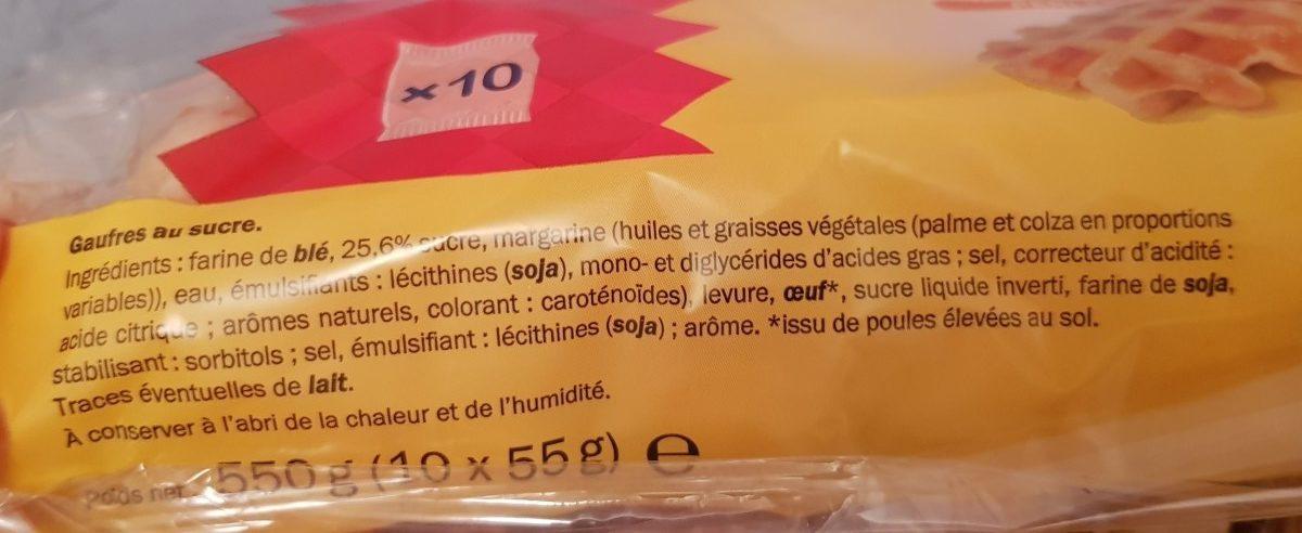 Gaugres de Liège - Ingredients
