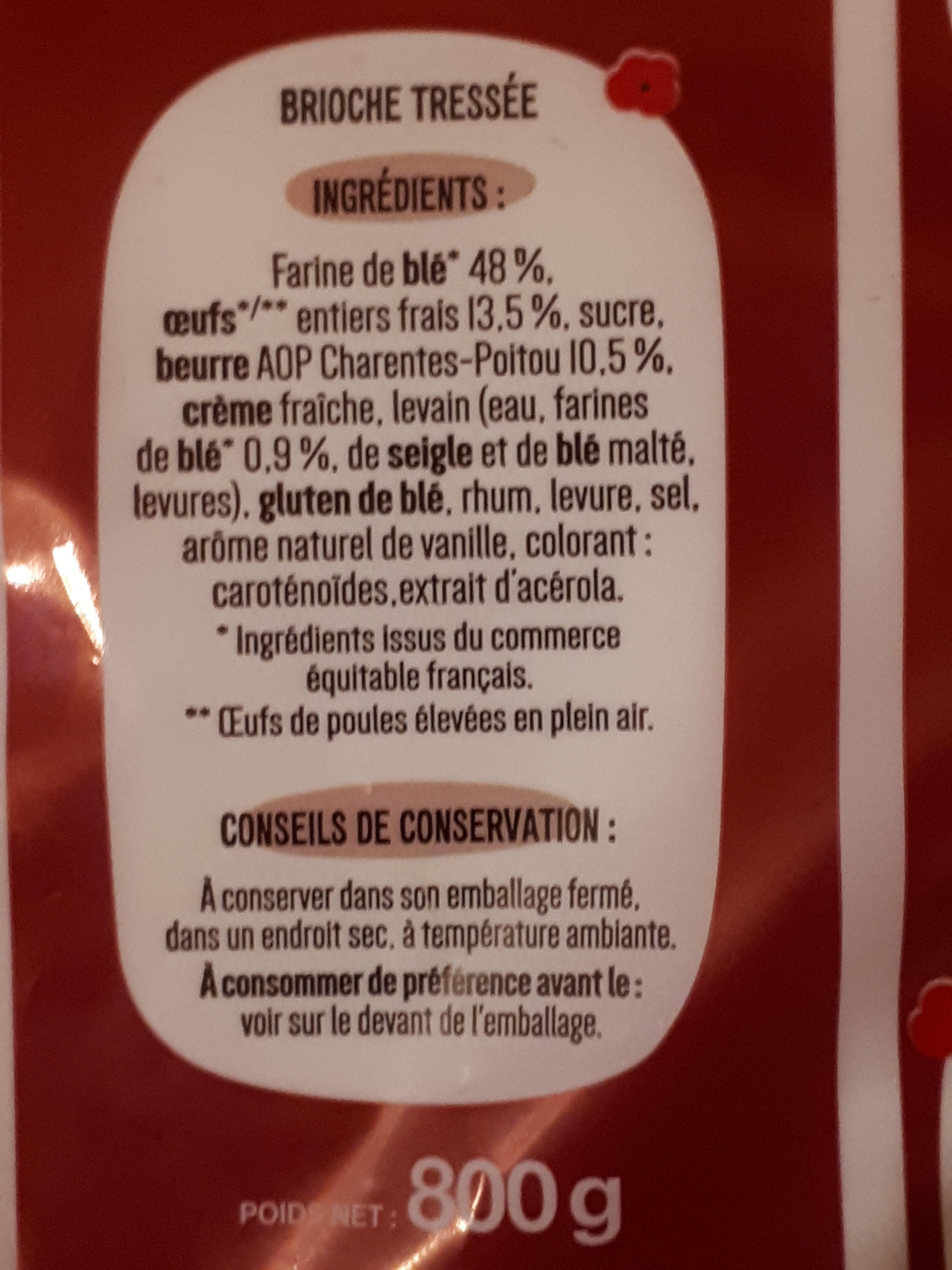 la tressée pur beurre - Ingrédients - fr
