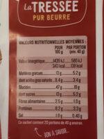 la tressée pur beurre - Informations nutritionnelles - fr