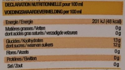Citronnade de Floride - Nutrition facts