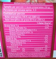 palomitas de maiz para microondas planet pop - Informations nutritionnelles