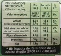 Hamburguesa vegetariana - Informació nutricional - es