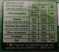 Nuggets vegetarianos - Informations nutritionnelles - es