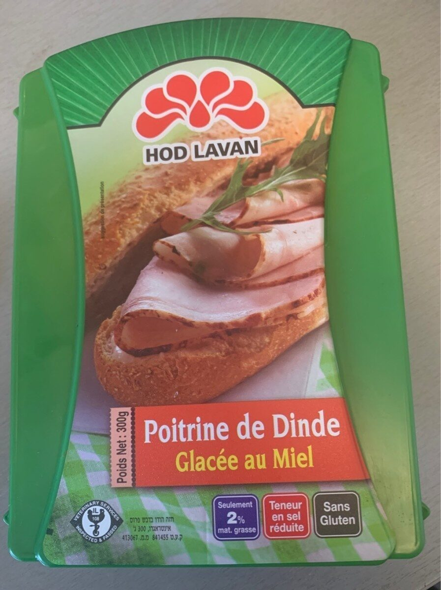 Poitrine Dinde Miel 300G- KLP -12 - Informations nutritionnelles - fr