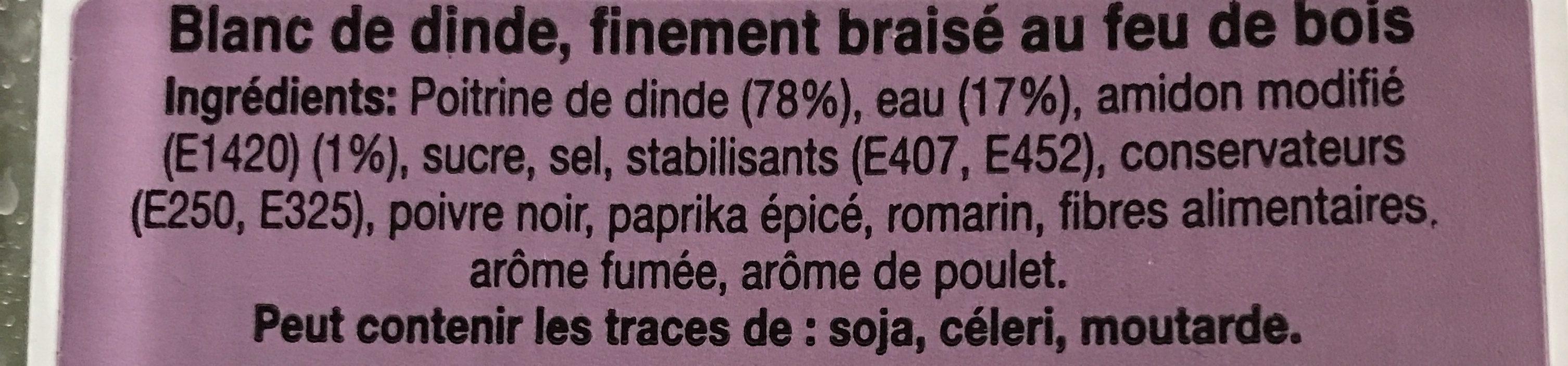 Chiffonnade Blanc Dinde - Ingrediënten - fr