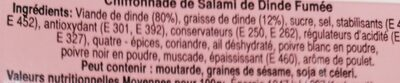 Chiffonnade de Salami de Dinde - Ingrédients - fr