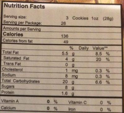 Biscuits au Vin - Nutrition facts - fr
