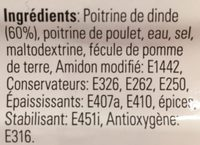 Chiffonnade poitrine dinde grillée - Ingrédients - fr