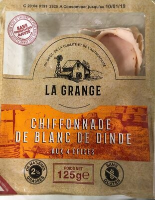 Chiffonawe de blanc de dinde - Product - fr
