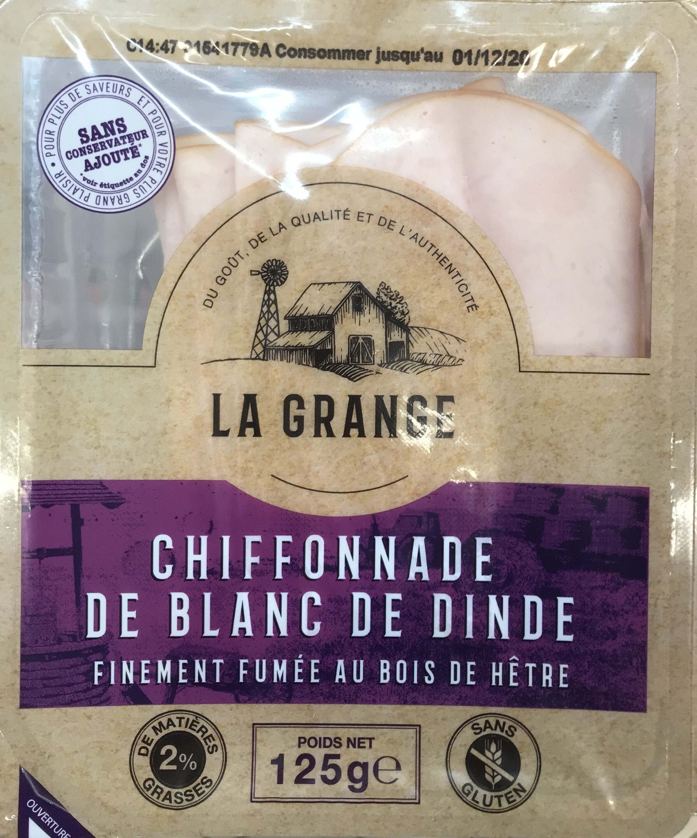 Chiffonade de blanc de dinde - Product - fr