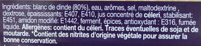 Chiffonade de blanc de dinde - Ingrediënten - fr