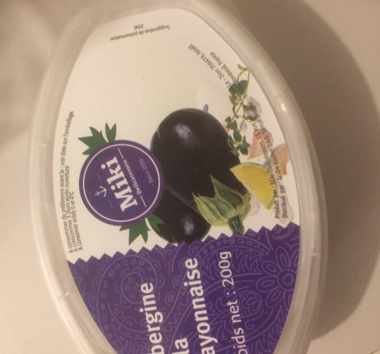Aubergine a la mayonnaise - Ingrédients - fr