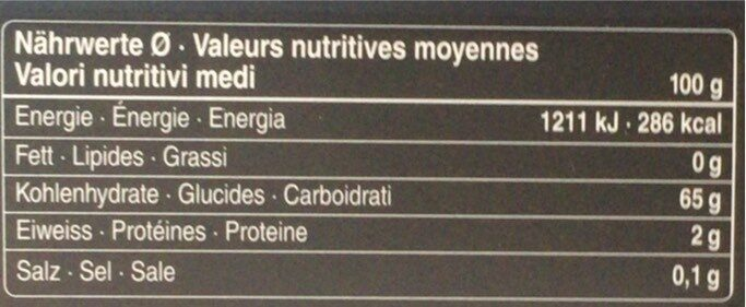 Medjool dates - Valori nutrizionali - fr