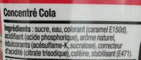 Concentré cola - Ingrédients - fr