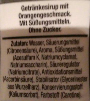 Orange light Sodastream - Ingrediënten
