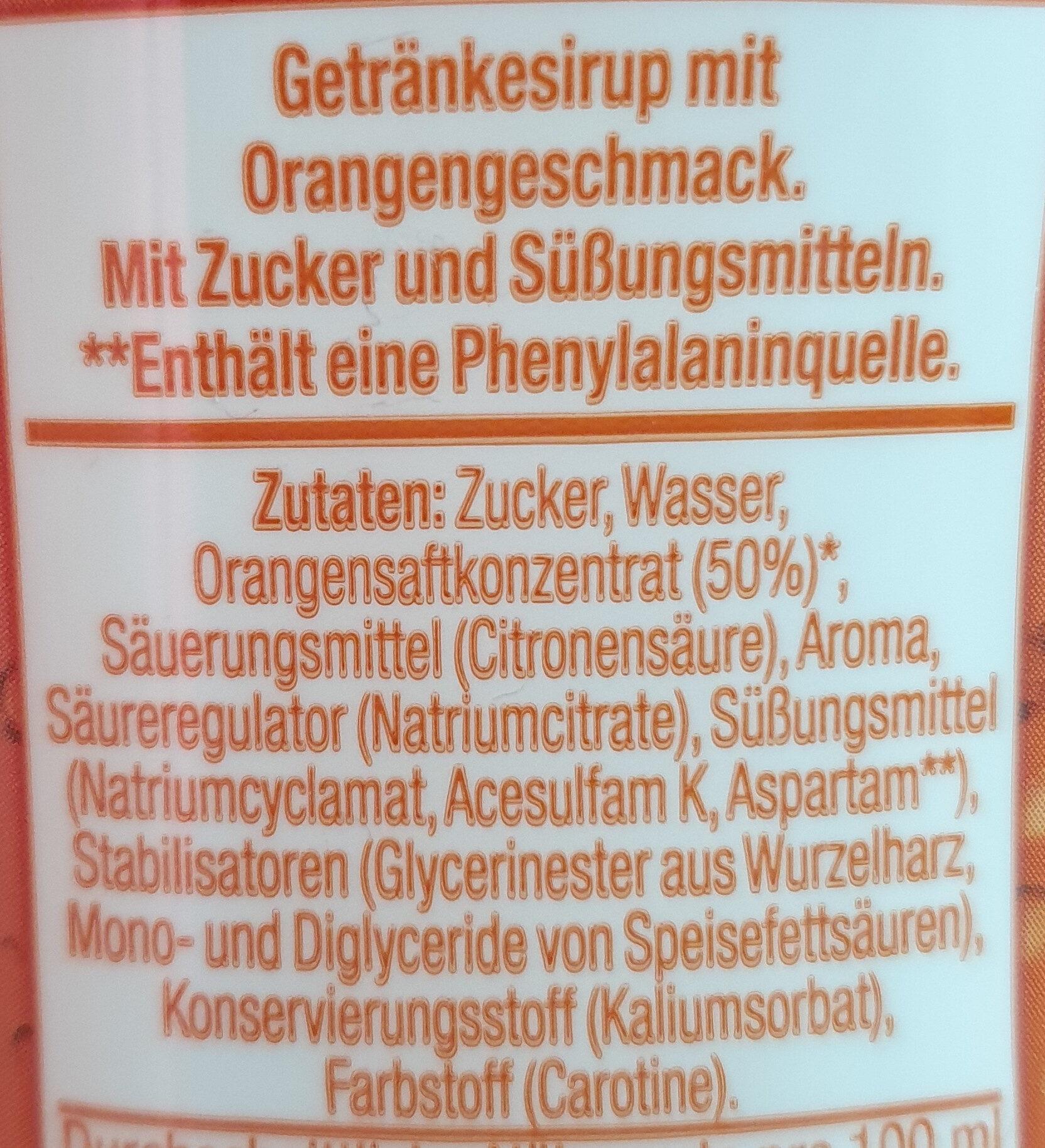 Sodastream - Saveur Orange - Ingrédients - fr