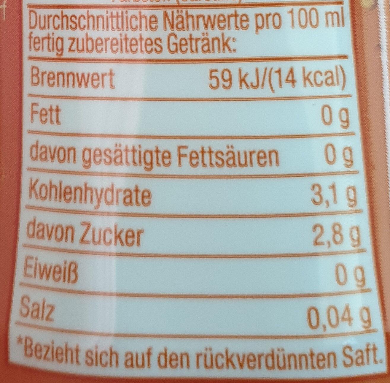sodastream Orangen-Geschmack - Výživové údaje - de