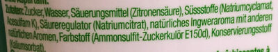 Ginger Ale Drink Mix - Ingredienti - de