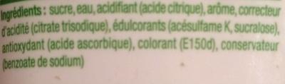 Concentré saveur Pomme - Ingrédients - fr