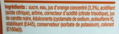 Concentré saveur Orange Sanguine - Ingrediënten - fr