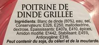 Poitrine de dinde grillé - Ingrediënten - fr