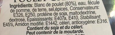 Poitrine de poulet grillée - Ingrediënten - fr