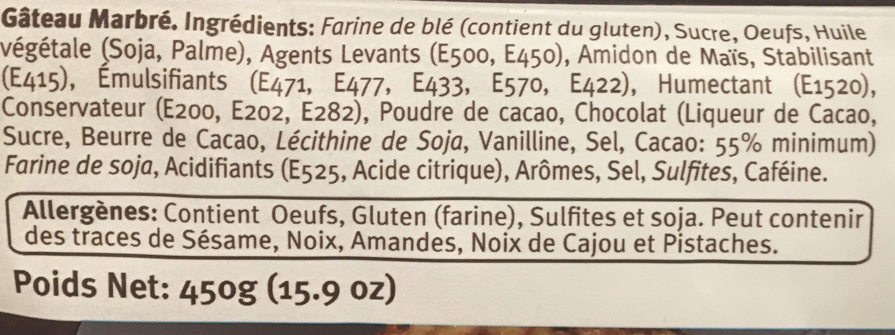 Gâteau marbré - Ingrédients - fr