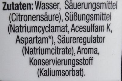 Zitronen-Limetten-Geschmack - Ingrediënten - de
