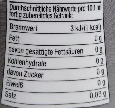 Zitronen-Limetten-Geschmack - Voedingswaarden - de