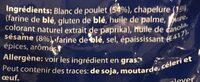 Batonnets Poulet au Sésame - Ingrédients - fr