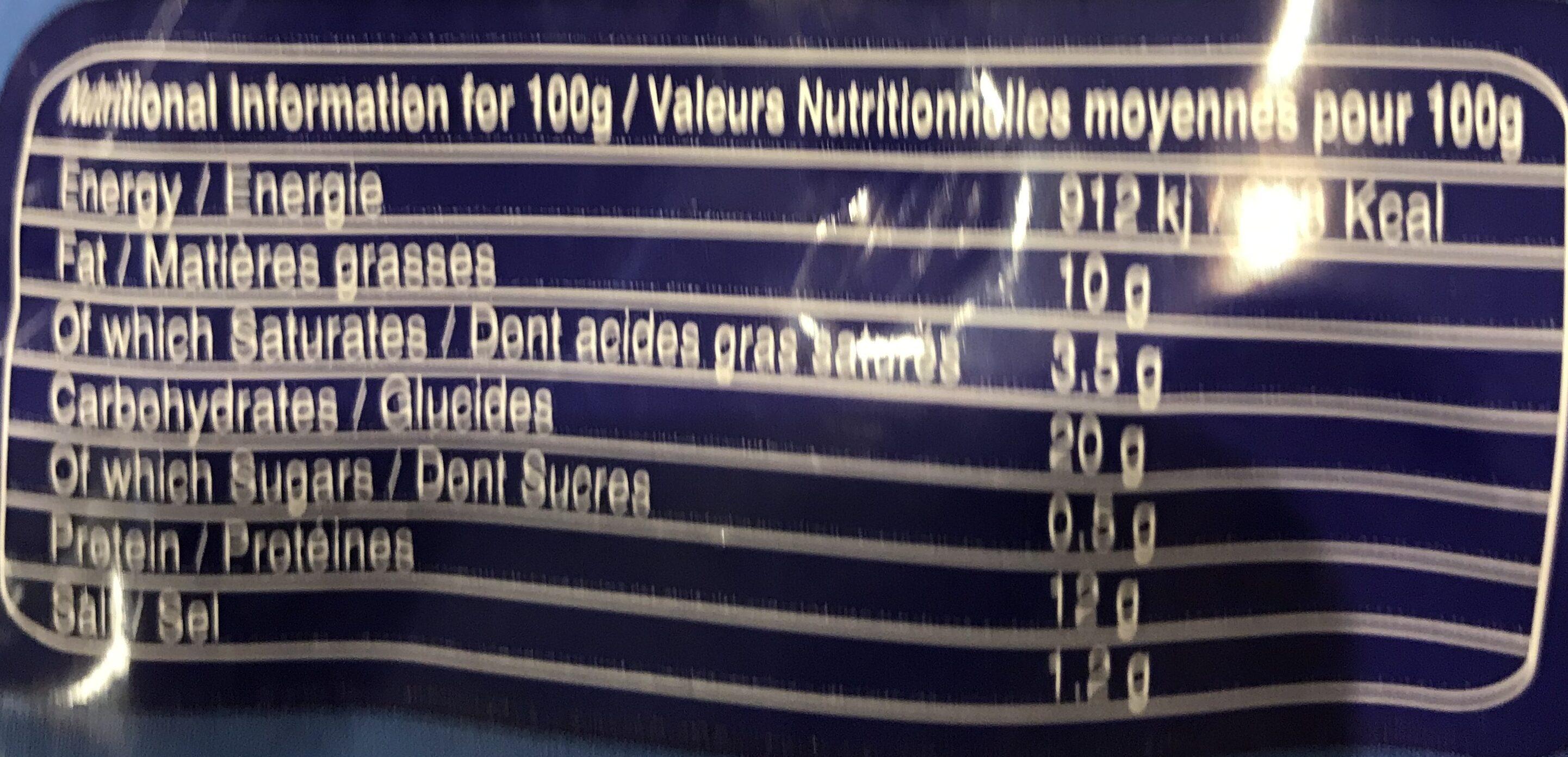 Batonnets Poulet au Sésame - Informations nutritionnelles - fr