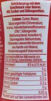 Rote Beeren - Geschmack - Informations nutritionnelles - de